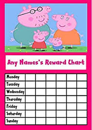 Peppa Pig Potty Training Reward Chart Printable Fire Engine Star Sticker Reward Chart Amazon Co Uk Office