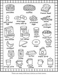 Small Picture 99 ideas Breakfast Coloring Pages on kankanwzcom