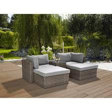 Greemotion Garten Lounge Gruppe Olea Polyrattan Grau 5 Teilig Kaufen