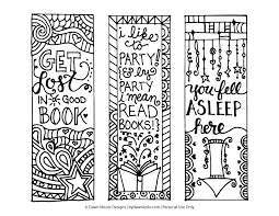 Bookmark templates to color