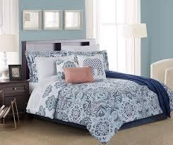 living colors lucie navy aqua c 12 piece comforter sets at big lots