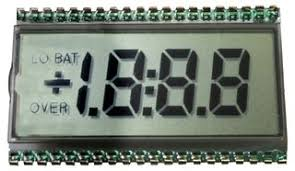 Image result for seven segment glass LCD