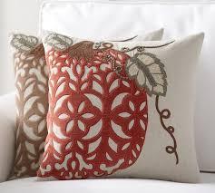 Awesome Velvet Pumpkin Applique Pillow Cover