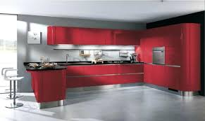 Cuisine Rouge Pas Cher Sur Cuisinelareduc Moderne Hd Et Gris