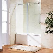 vigo elan 60 in w x polished chrome bathtub door