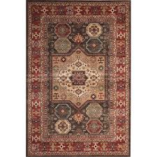 8 x 11 large chocolate brown ivory and red area rug sonoma rc willey furniture