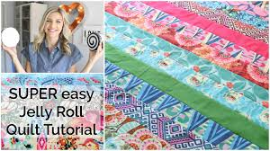 Easy Beginner Quilting Tutorial with a Jelly Roll - YouTube &  Adamdwight.com