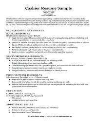 Resume Samples For Grocery Store Cashier Sample Professional