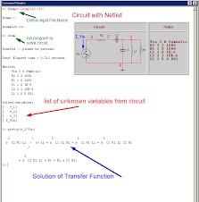 symbolically solving circuit equations