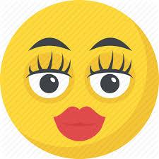 adorable emoji emoticon kissing makeup emoticon icon