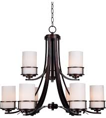 kenroy lighting 93589cop theo 9 light 29 inch polished copper chandelier ceiling light