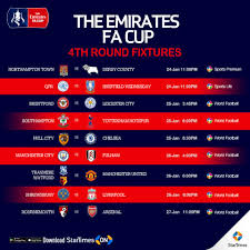 736 clubs were accepted and it began with the extra preliminary round on 10th august 2019 and concludes with the. Startimes Fourth Round Of The Emirates Fa Cup Fixtures Facebook