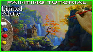 acrylic landscape painting tutorial windmill on the mountains in basic step by step by jm lisondra