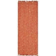 natural fiber rust 3 ft x 6 ft runner rug