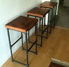 diy bar stool ideas bar table ideas inspirational reclaimed wood iron pipe bar stools by on diy bar stool ideas