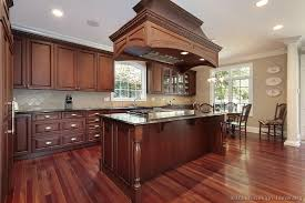 Small Picture Floors Traditional Dark Wood Cherry Kitchen Cabinets 65 Kitchen
