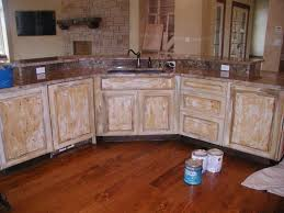 how to paint a cabinet and make it look distressed designs amazing distressed kitchen cabinets