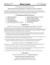 Resume Examples Housekeeping Hospital Jobs Resume Templates