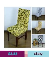 spandex stretch chair seat cover for wedding banquet party decor dining bar ebay home garden