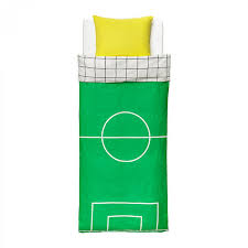 ikea spelplan soccer field twin duvet cover pillowcase set green sports football
