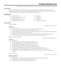 Resume Job Profile