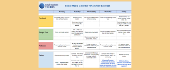 Create A Calendar Template Social Media Calendar Template For Small Business