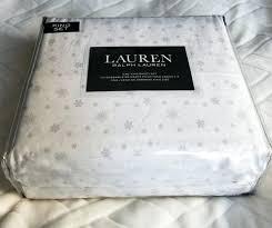 ralph lauren king sheet king sheet set white with gray snowflakes cotton retail ralph lauren dunham ralph lauren king