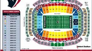 Houston Stadium Seating Chart 2004 Reliant Stadium Seating Chart