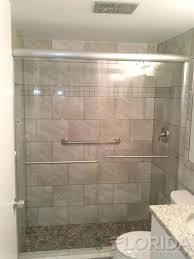 terrific brushed nickel shower door at sliding enclosures florida doors manufacturer