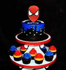 Spiderman Cake And Cupcakes Spiderman Cake With Comic Book Flickr