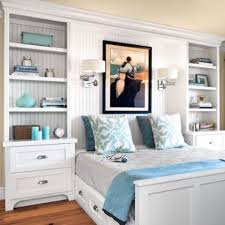 bedroom wall storage. Interesting Wall Dressers And Bookcases On The Sides Of Bed Provide Lots Storage Space Intended Bedroom Wall Storage U