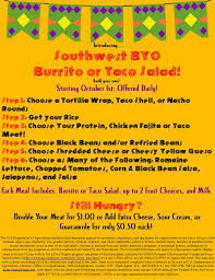 Build Your Own Flyer Build Your Own Burrito Flyer