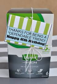 birthday gifts for him fun 40th gift depends with a printable thirtyhandmadedays