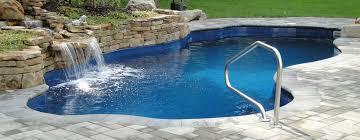 inground pools. Inground Pool With Waterfall Pools E