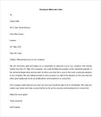 Welcome Letter Template Dldownload