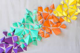 3d paper wall art diy
