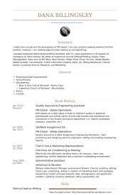Quality Assurance Engineering Assistant Resume samples
