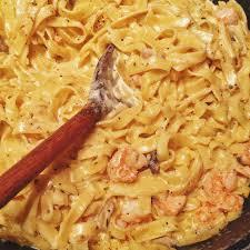 seafood pasta with mushroom cream sauce ...