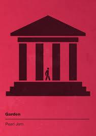 pearl jam ten garden pictogram poster by ed bouncer