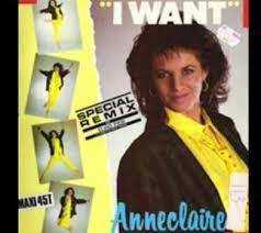 Anne Claire I Want - Tube des Années 80 - Chanteuse-Anne-Claire