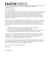 cover letters social work  cover letter example