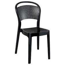 polycarbonate furniture. Bee Polycarbonate Dining Chair Glossy Black (Set Of 2) Furniture D