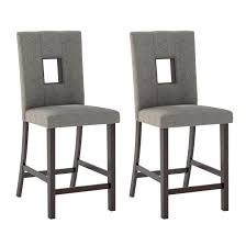 counter height chairs set of 2. Simple Counter Counter Height Dining Chairs In Grey Sand Fabric Set Of 2 Intended Of D
