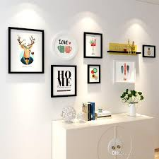 2019 europe style shelf black white vintage photo frame wall family wooden picture frame sets round picture frames for paintings from wd720163