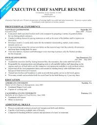 Culinary Resume Examples Mesmerizing Culinary Resume Profile Examples With Chef Resume Examples Executive