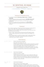 Instructional Designer Resume New Senior Instructional Designer Resume Samples VisualCV Resume