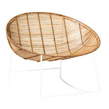 bloomingville rocking chair in natural rattan by out there