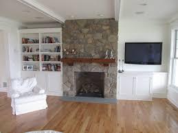 Open Stone Fireplace Custom Media Room Designed By Churchville Kitchen Home Design