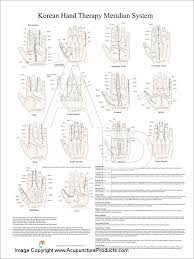 Korean Hand Therapy Meridian Wall Chart