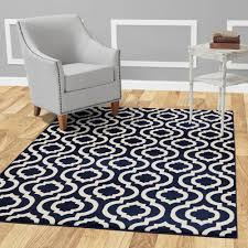 Image Area Rug Jasmin Collection Moroccan Trellis Design Navy And Ivory Ft 10 Ft Runner Rug The Home Depot Diagona Designs Jasmin Collection Moroccan Trellis Design Navy And
